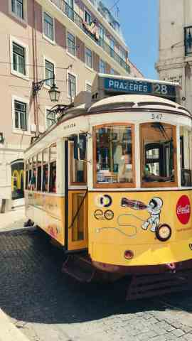 An option for children when in Lisbon, Portugal with a family is to ride Tram 28.