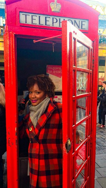 Famous London red photo booth