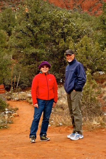 Rosie & Terry at the Stupa