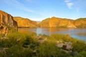 Golden glow at Canyon Lake