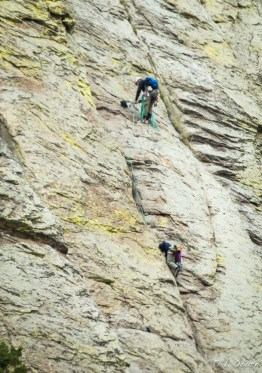 Technical climb done barefoot!