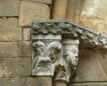 Ancient cornice on church