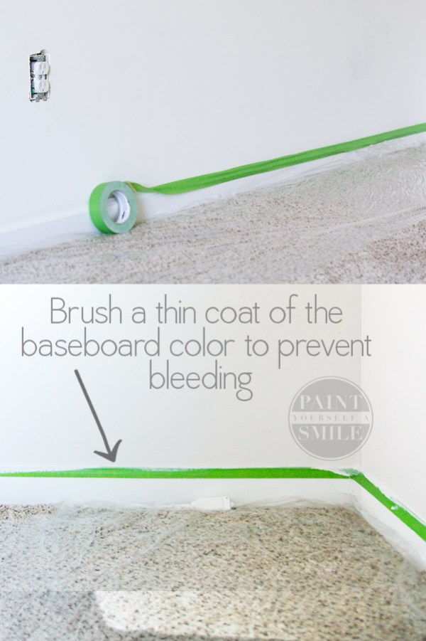 This is a simple bathroom update along with a few great painting tips from PaintYourselfasmile.com