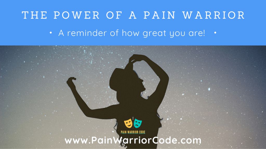 The power of a pain warrior blog banner