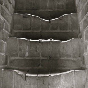 """Slowly-by-slowly ~ worn Great Wall stairs ~ By David Truss ~ CC = BY::NC::SA"""