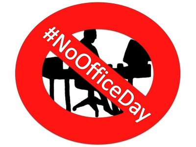 """""""No Office Day -with Hashtag"""""""