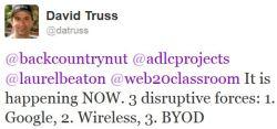 Disruptive Forces Tweet