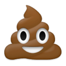 "Fun Fact: The actual name of the poop emohi is ""Steamin' Johnny."""