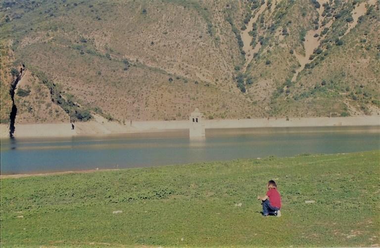 Pueblo sumergido en el pantano de Mediano