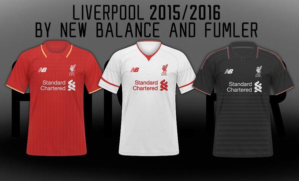 huge selection of f8cb7 37260 Liverpool Kits to be Re-Branded to New Balance Next Season ...