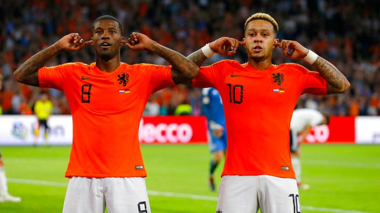 Memphis Depay and Georginio Wijnaldum