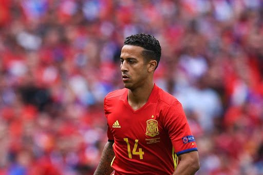 Thiago Alcantara Spain and Bayern midfielder