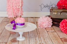 Vintage Pink Cake Smash Photos - Lace and Pearl
