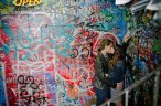 Graffiti Engagement photos - cute Couple photography - Calgary Wedding Photographer