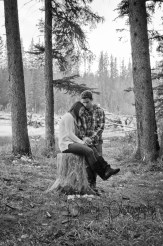 Forest Engagement - Woodland Engagement photography - Canmore Engagement Photography - Calgary Wedding Photographer
