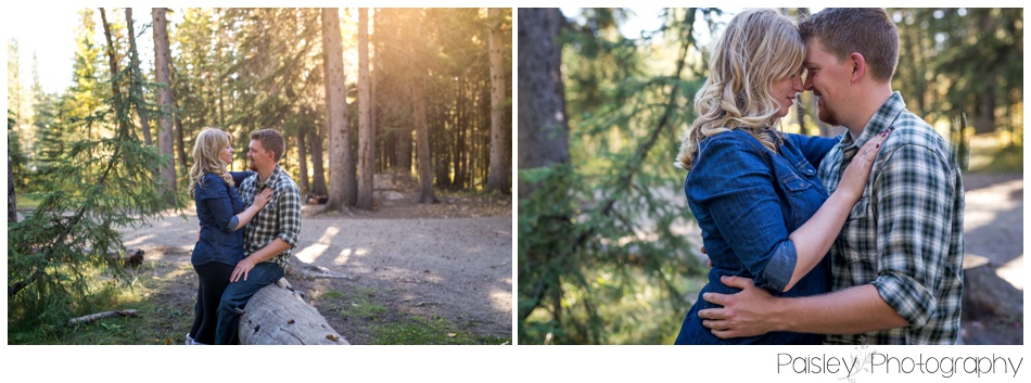 Camping Themed Engagement Photography Calgary