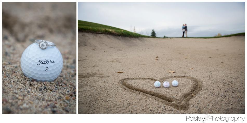 Calgary Wedding Photographer, Calgary Engagement Photography, Okotoks Wedding Photographer, Okotoks Engagement Photography, Golf Course Engagement Photography, Golf COurse Engagement, Fall Engagement Photography, Autumn Engagement Photography,