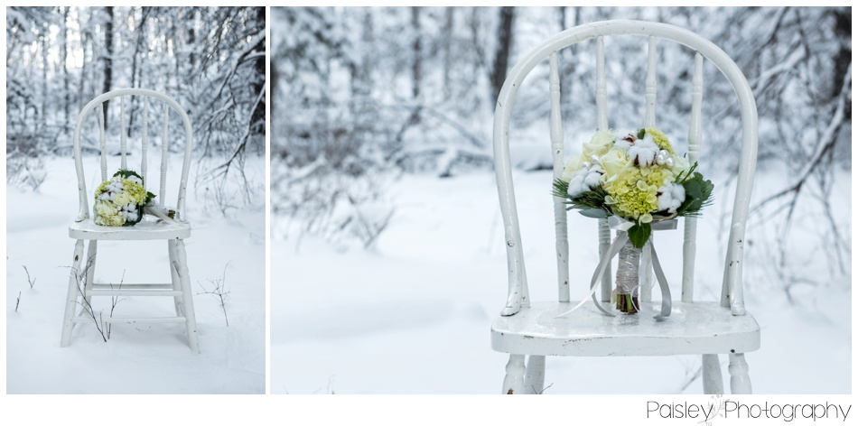 Willow & Whimsy Wedding Bouquet, White Rose Wedding Bouquet, Cotton Wedding Bouquet, Winter Wedding Flowers, Winter Wedding Wedding Bouquet, Winter Wedding Calgary, Calgary Woodland Winter Wedding Photography, Calgary Wedding Photographer