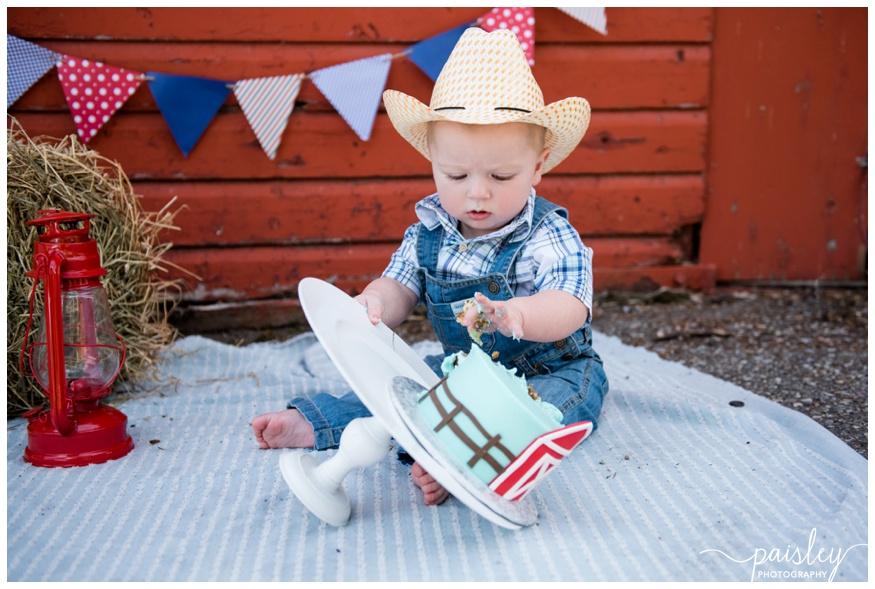 First Birthday Cake Smash Photographer Calgary