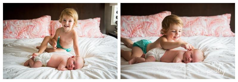 Sibling Newborn Photography Calgary
