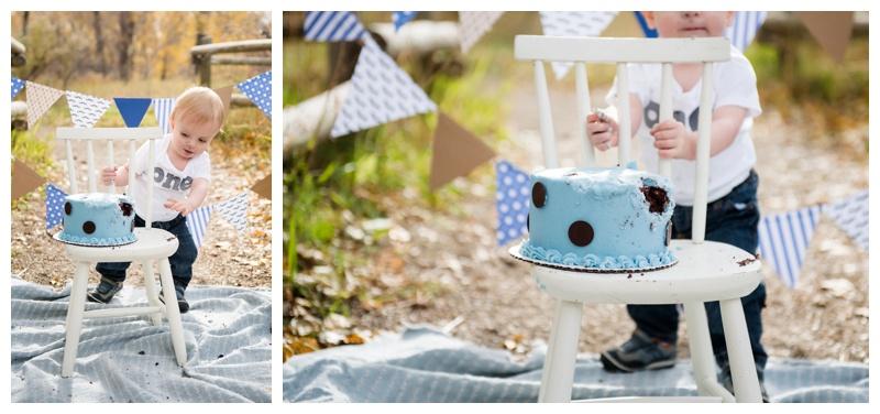 Outdoor Cake Smash Photography Calgary