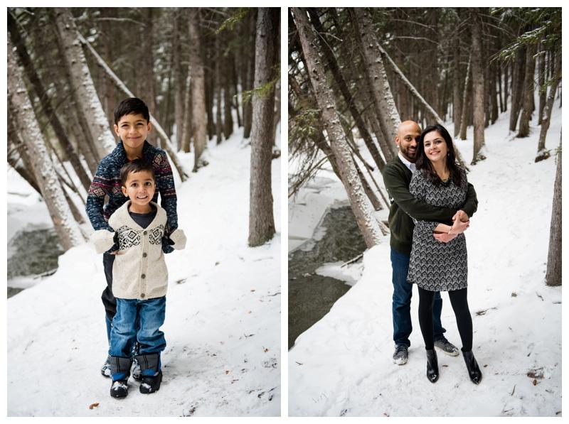 Winter Family Photos Cochrane