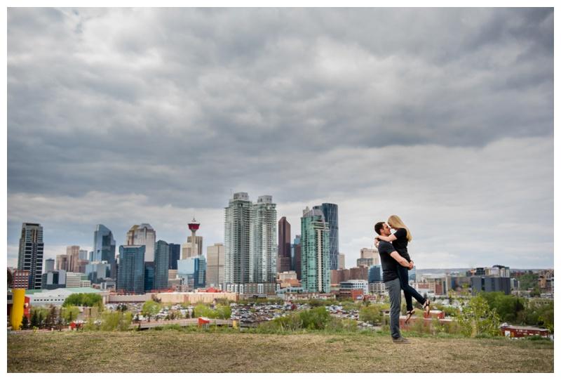 Calgary Skyline Engagement Photography