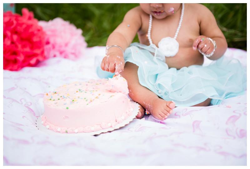 Girly calgary Cake Smash Photography