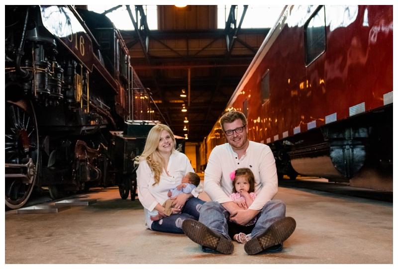 Train Yard Family Photography - Calgary Family Photographer