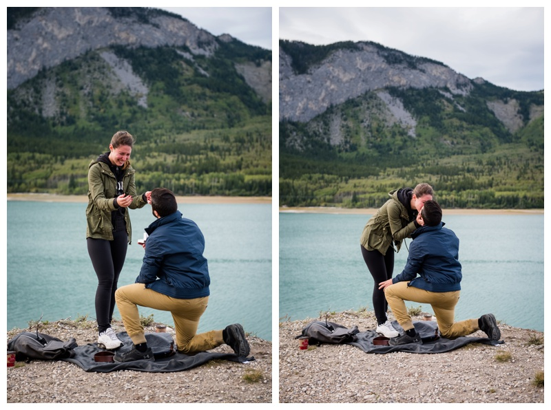 Mountain Wedding Proposal Photography Canmore