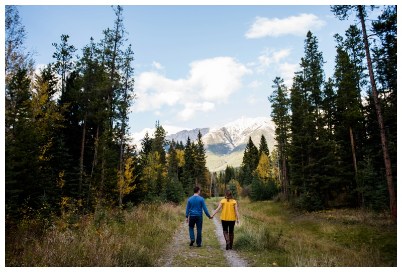 Canmore Fall Engagement Photos