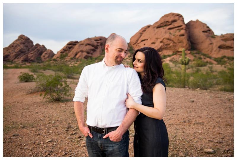 Phoenix Papago Park Engagement Photography