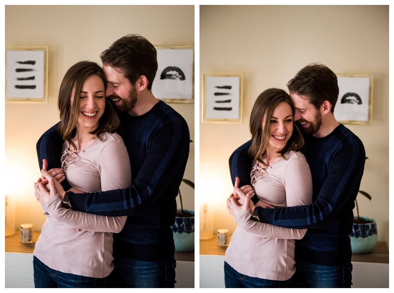 At Home Engagement Photography Calgary