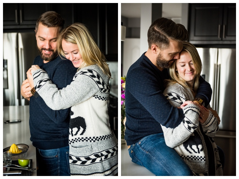 Calgary Kitchen Engagement Photography
