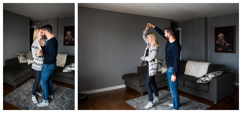 In Home Engagement Photographer Calgary