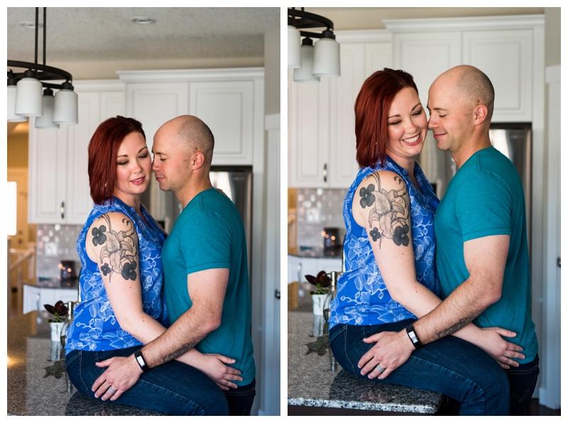 Calgary At Home Couple Photos