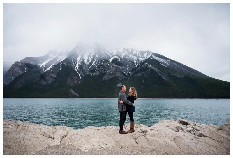 Lake Minniwanka Engagement Photos