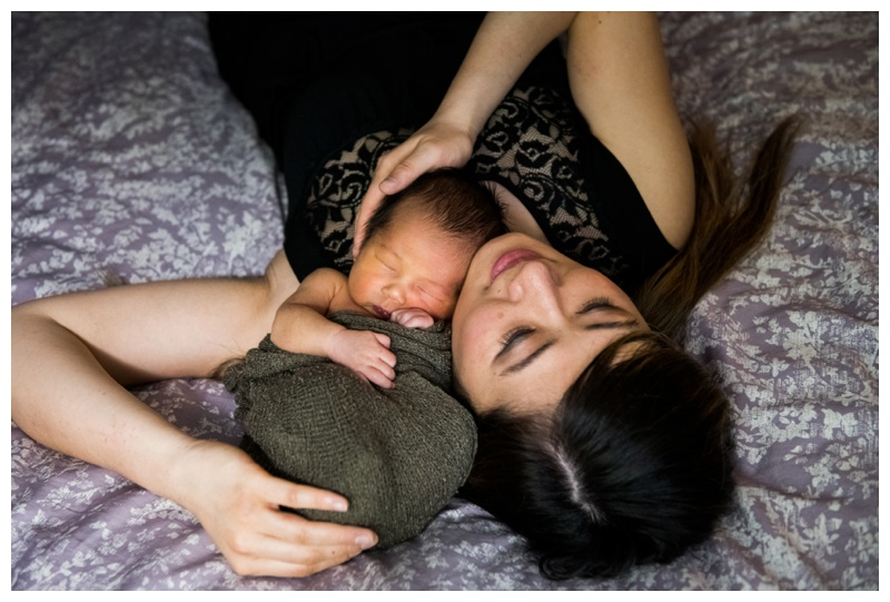 Calgary At Home Lifestyle Newborn Session