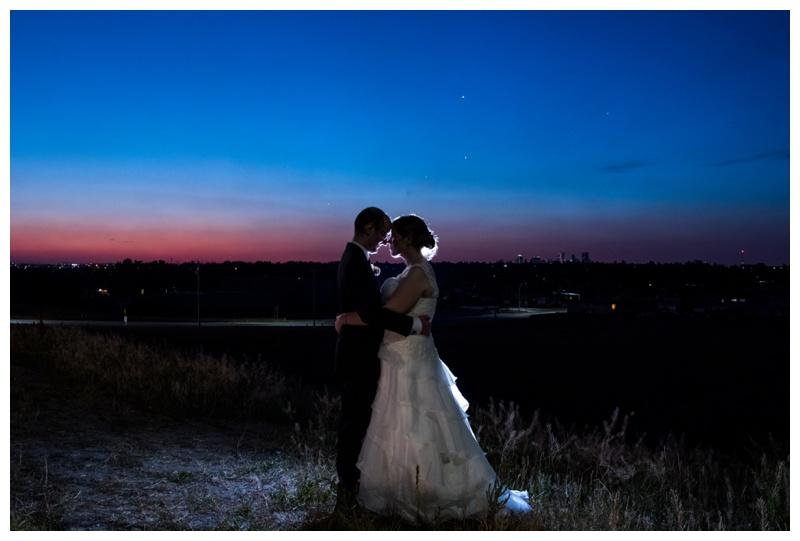 Calgary Night Wedding Photography