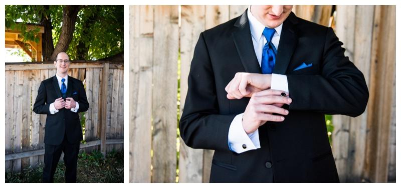 Groom Getting Ready Wedding Photos