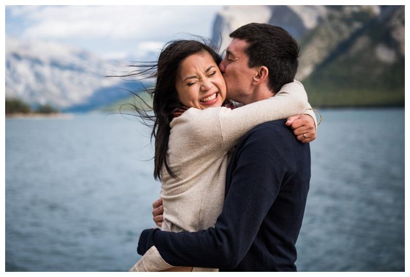 Lake Minniwanka Engagement Photography