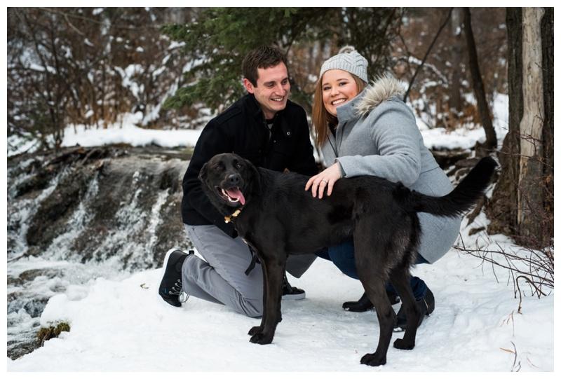 Winter Couple Photos Calgary Alberta