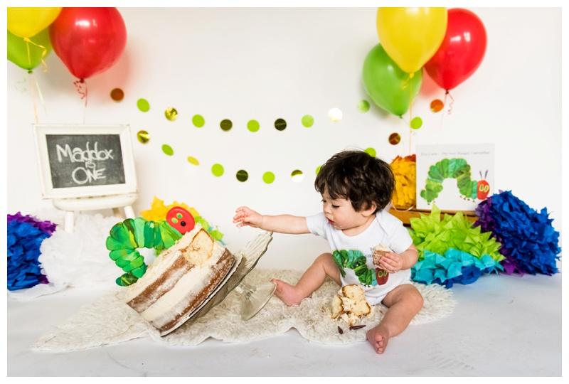Hungry Caterpillar First Birthday Cake Smash- Calgary Photographer.jpg