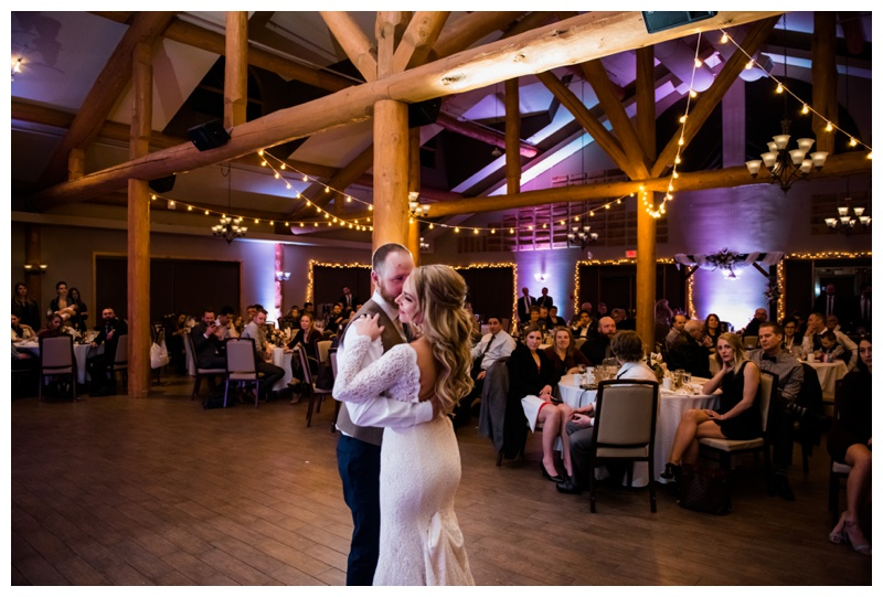 First Dance Wedding Photos - Cochrane Ranche House