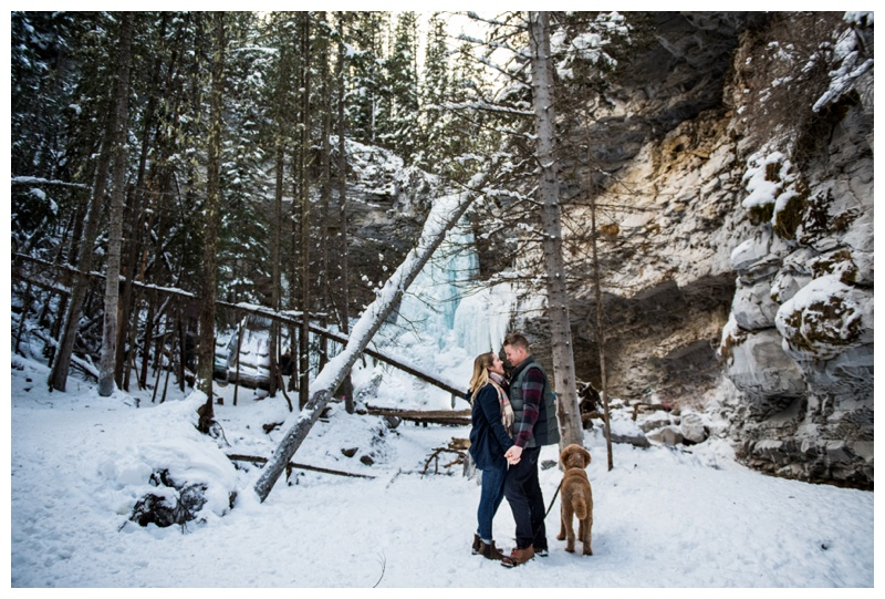 Winter Troll Falls Engagement Photography