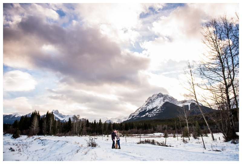 Winter Canmore Engagement Photography