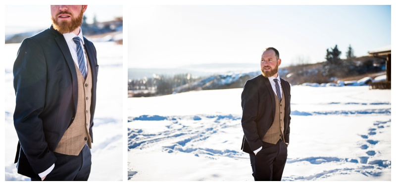 Winter Groom Attire - Calgary Wedding