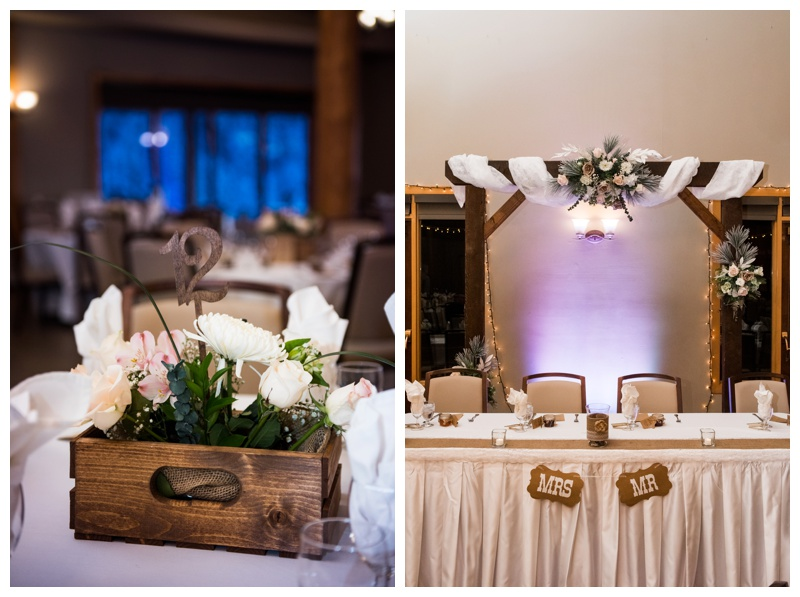 Winter Wedding Reception - The Cochrane Ranche House