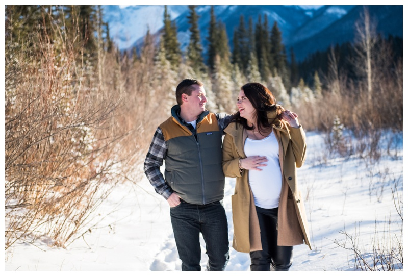Canmore Winter Maternity Photography