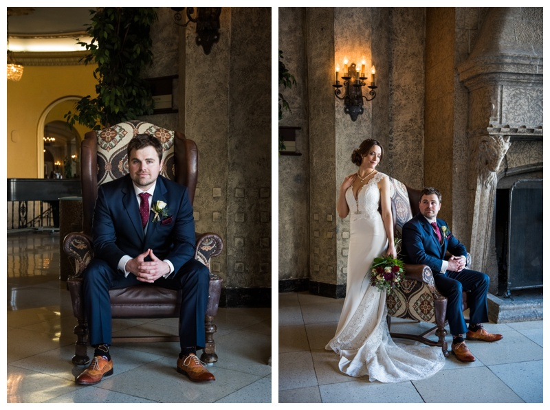 Banff Springs Hotel Wedding - Bride & Groom Portraits